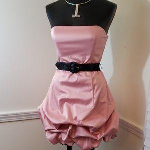 NWT City Triangles Strapless Pink Bubble Hem Dress